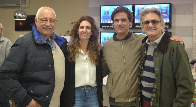 Jose, Maria Jose, Jorge y su padre Jorge Logioco