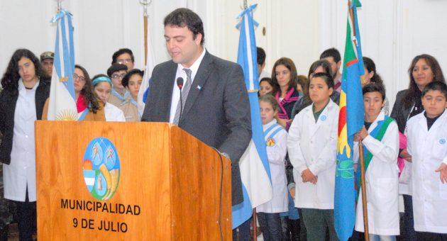 Mariano Barroso durante su discurso dado este jueves 25