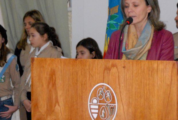 Concejal Maria Jose Gentile dejo su mensaje a la comundiad