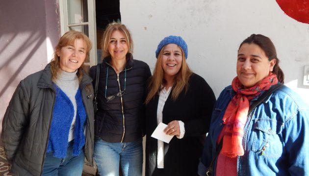 Cristina Sberna, Marcela Ferrer, Marcela Rivero y Ana Sivori, profesora de la Escuela