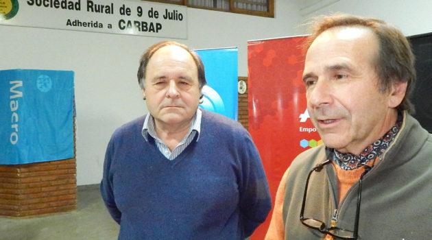 Héctor Carta y Miguel Taboada en dialogo con medios de prensa