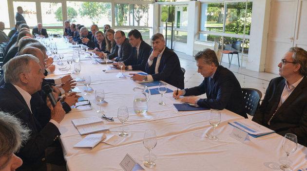 Instancia de la reunión entre Macri y la Mesa de Carnes – foto presidencia de la Nación