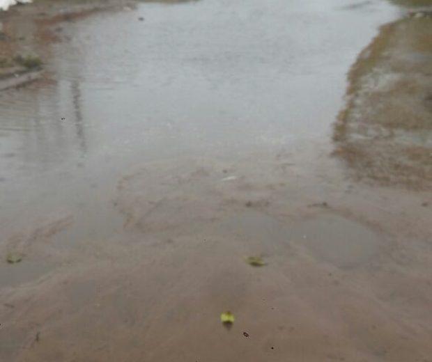 Calle de Dudignac bajo agua