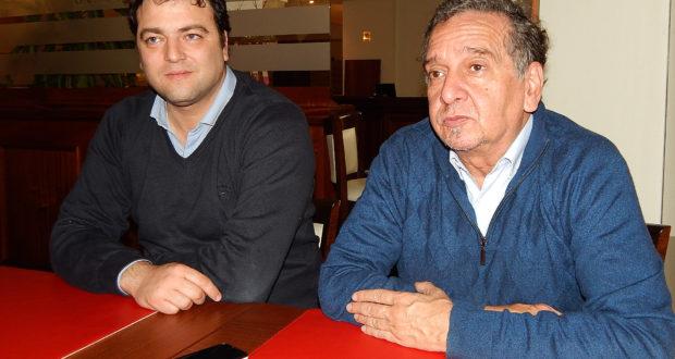 El Ministro de Ciencia y Tecnologia Lino Barañao junto al Intendente Mariano Barroso en dialogo con la prensa