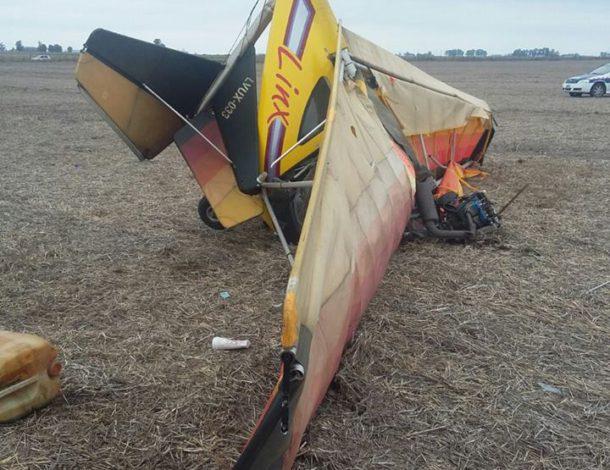 El ultraliviano que se precipito y donde fallecio su piloto