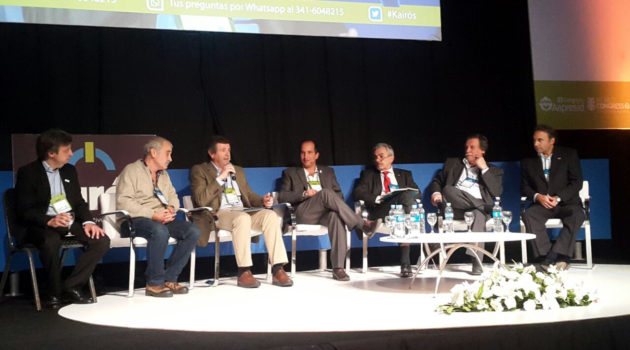 Panel del cual participo Francisco Lugano en el Congreso Aapresid- Foto CREA