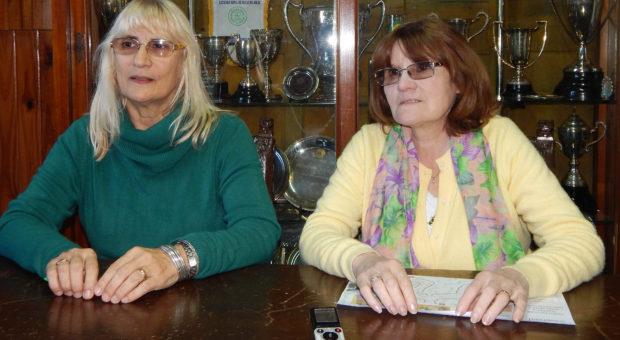 Graciela Vadillo y Emilce Rossi de Favazza en dialogo con la prensa local