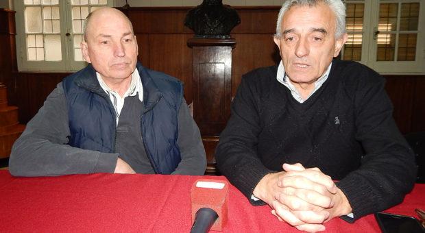 Jorge Zotti junto al Director de Transito, Carlos Agrati