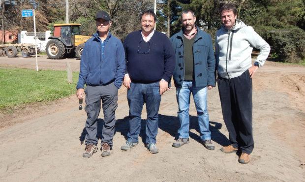 Manuel Varela, Enrique Merlo, Fernando Bono y un segundo miembro de la empresa española Solidphase