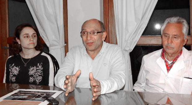 Maria Eugenia Martinez, Carlos Chavez y Horacio Martinez brindaron detalles de la Jornada medica a realizarse en 9 de Julio