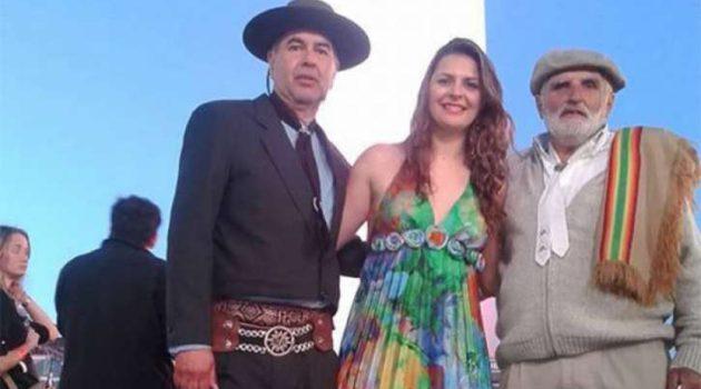 Mireya junto Mario Perez y Lucrecia Longarini durante la primera edición