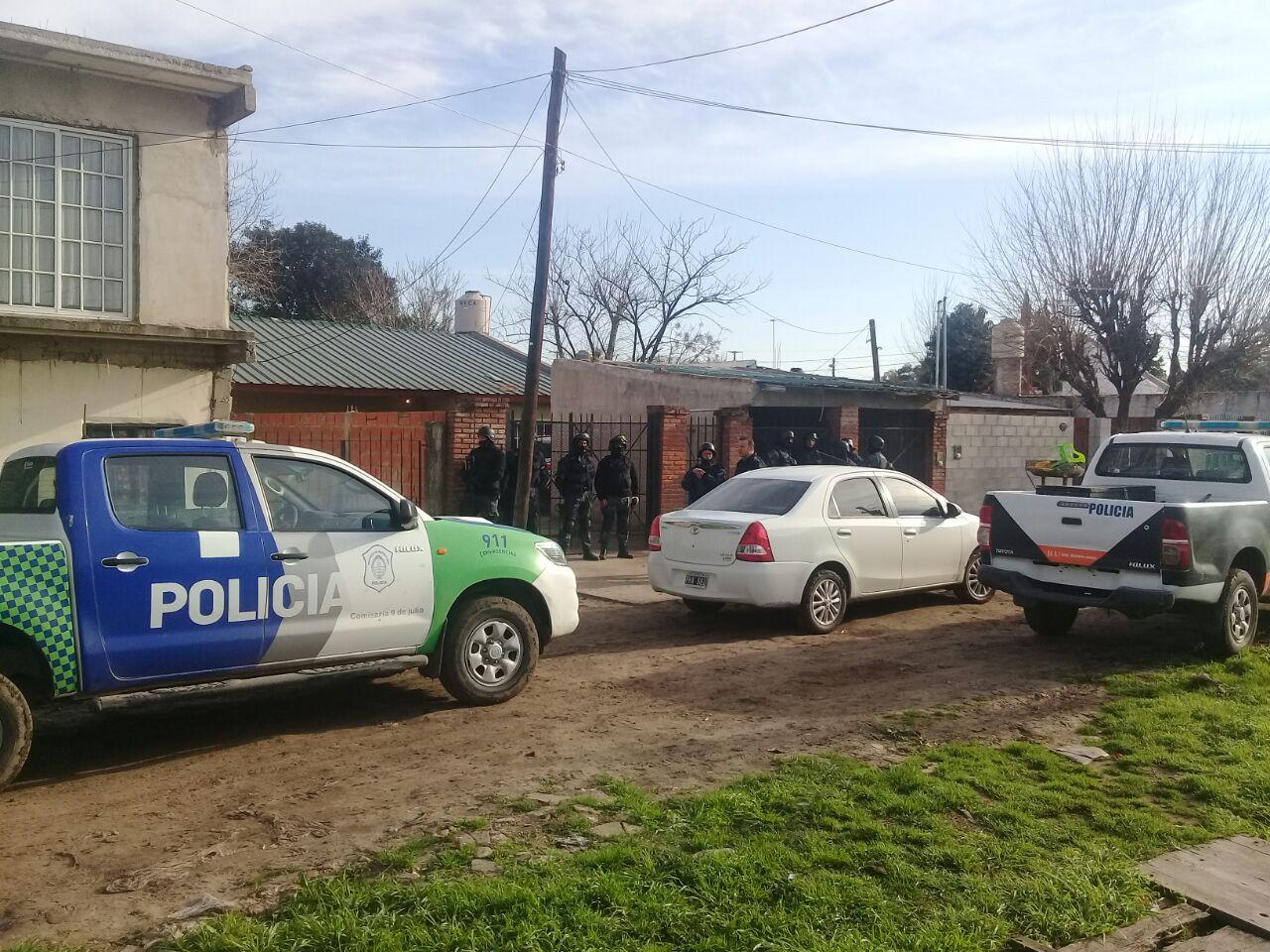 Policía Comunal de 9 de Julio y la Justicia desbarato una banda que cometieron un hecho de robo en nuestra ciudad