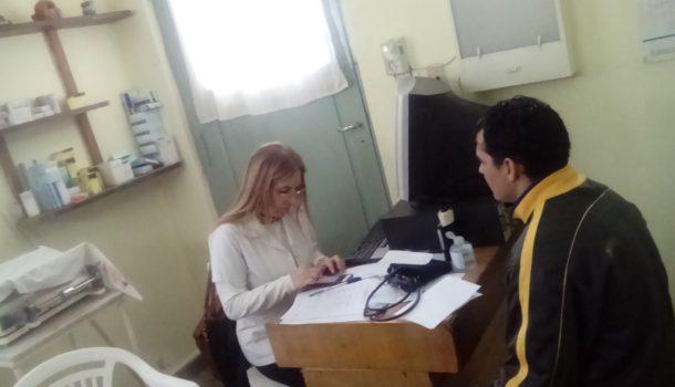 Parte del trabajo de control medico que se llevo adelante en Patricios – foto municipalidad
