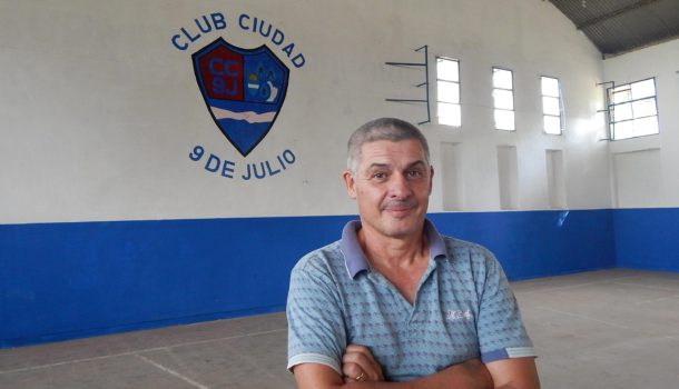 Walter Daffara es el mentor del Club Ciudad 9 de Julio que ya es una realidad