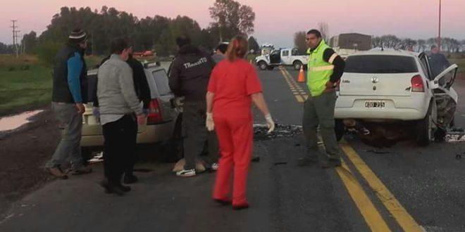 Accidente vial que se dio esta mañana en Carlos Casares – foto Verdad Casares