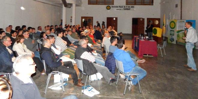 Amplio interes en la charla sobre soja en Sociedad rural de 9 de Julio