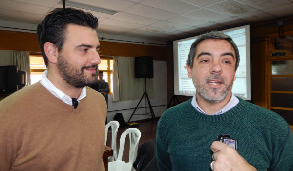 Carlos Brangeri junto al Ing Ind Julian Villarica