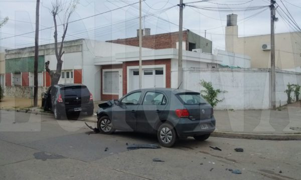 El accidente se produjo en la interseccion de Poratti y Entre Rios