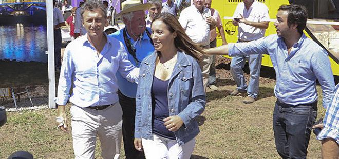 En el año 2015 Juano Gentile se ocupo de coordinar la comuniciacion de Mauricio Macri, como en este caso en Expoagro