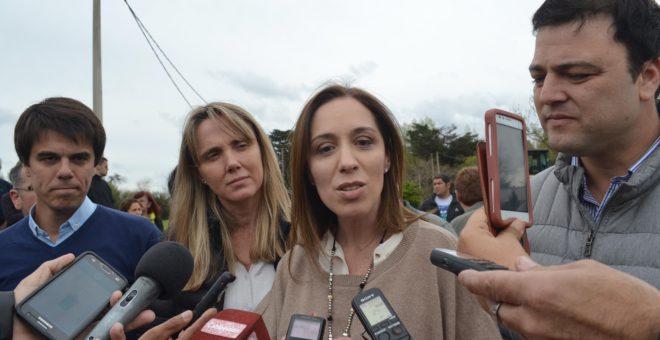 Gobernadora Maria Eugenia Vidal junto al Intendente Barroso, el Concejal Barbieri y la candidata a senadora nacional Gladys Gonzalez