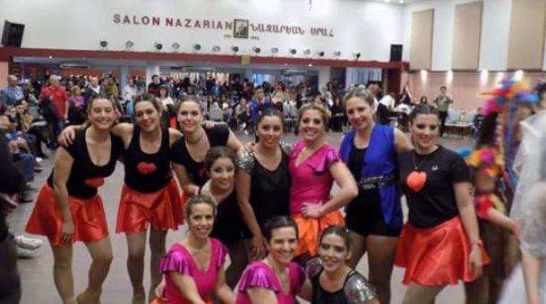 Grupo de patinadoras mayores en Palermo Show Time
