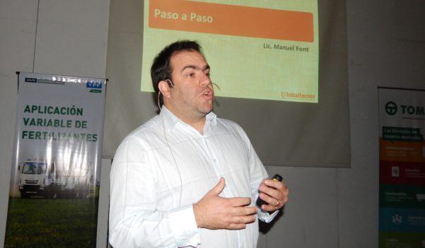 Maunel Font durante su disertación en la Jornada de la Regional Aapresid