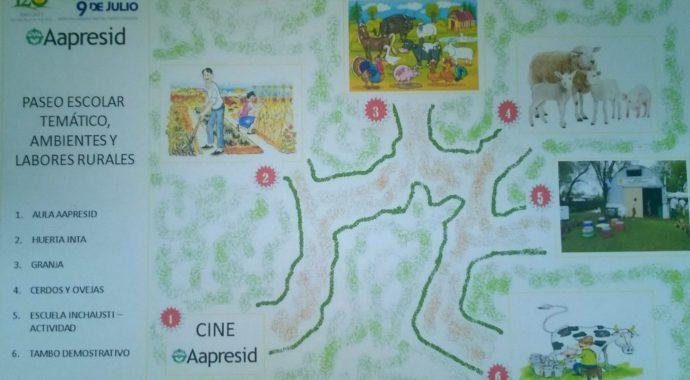 Paseo tematico que se dara junto al Aula Aapresid en la 120 Expo Rural de 9 de Julio