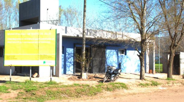 Polideportivo que se construye en Ciudad Nueva – foto prensa municipal