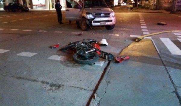 San Martin y Robbio lugar del accidente