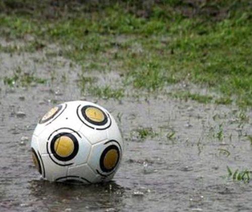 Se suspendio el futbol por el mal tiempo climatico