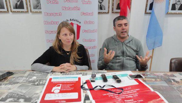 Chiocconi y Bono en dialogo con la prensa local