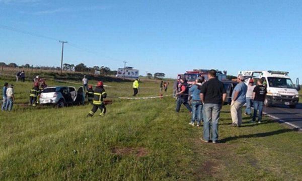El accidente se produjo en el kilometro  225 casi en el limite con 9 de Julio