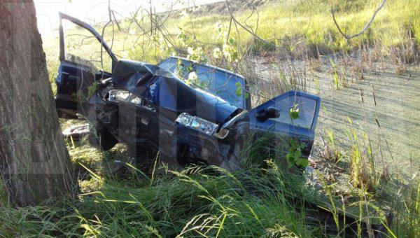 Automovil que protagonizo el accidente en el Acc de Dudignac