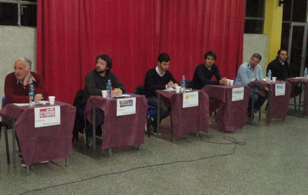 Candidatos a Concejales en 9 de Julio que participaron del Debate en Escuela San Agustín