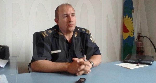 Comisario Inspector Lusetti se reunio este martes con Personal de Policia 9 de Julio