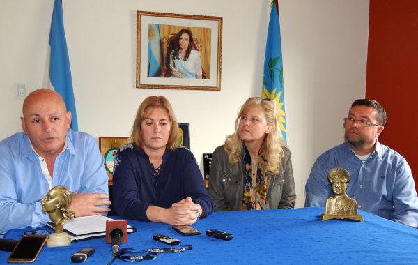 Delgado, Crespo, Pianetti y Martin durante la rueda de prensa esta mañana