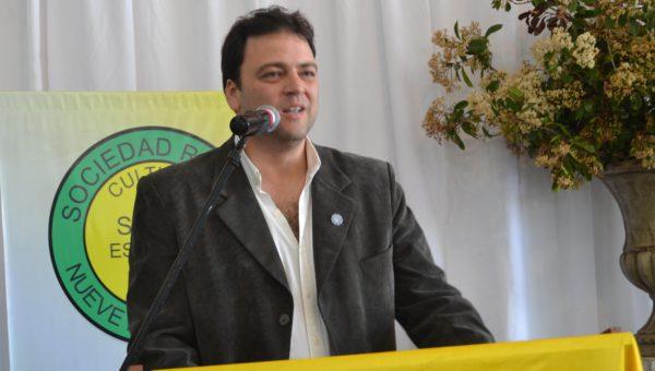 Mariano Barroso durante su discurso en Sociedad Rural de 9 de Julio