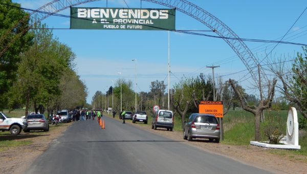 Se dejo reparo un tramo de 2,5 km del acceso a El Provincial