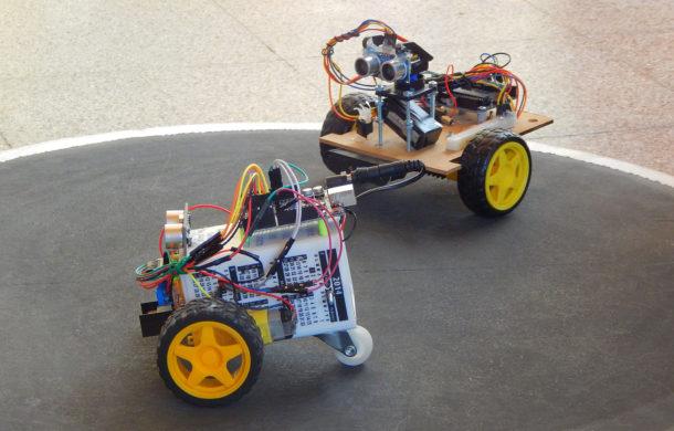 Elementos de robot expuesto en la Feria
