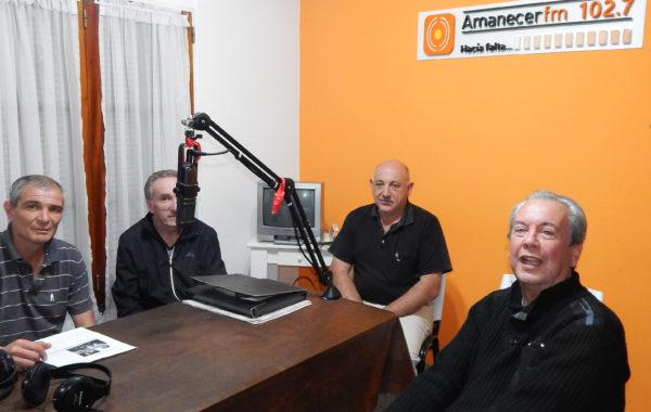 Guillermo Blanco en los estudios de FM Amanecer