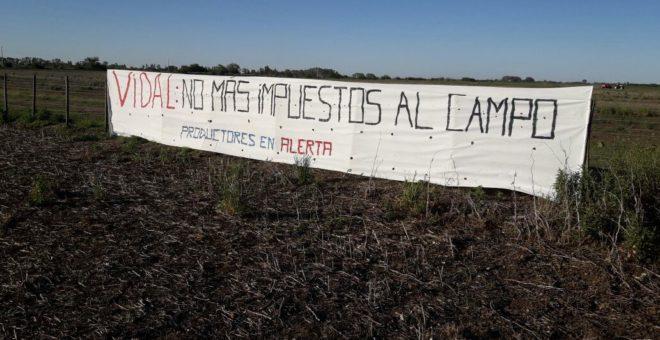 Las primeras manifestaciones del campo ante la politica fiscal de Vidal