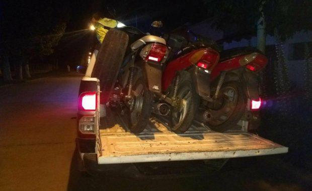 Motos secuestradas sin sus correspondientes patentes