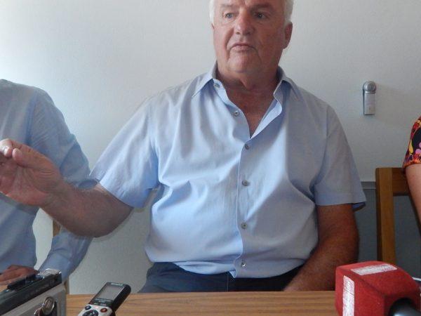 Niembro durante su visita a 9 de Julio en el 2015, semanas despues debio renunciar a su candidatura
