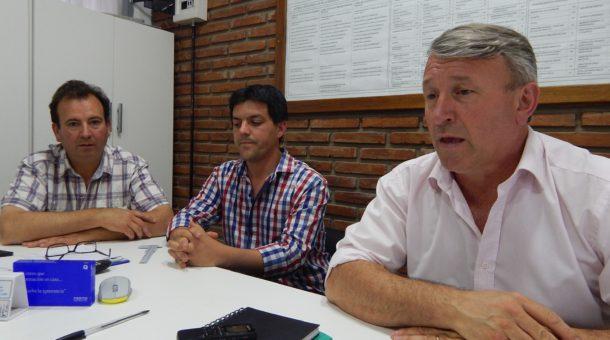 Silvio Balbo, Juan Pablo Filoni y Roberto Asenjo