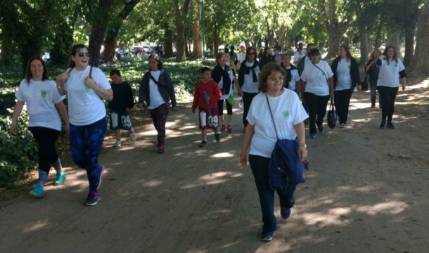 Tramo de la caminata en Parque Gral San Martin