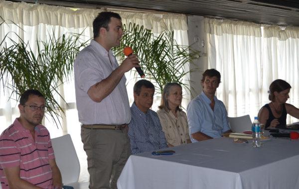 Barroso al dar la bienvenida junto a Vivani, Buil , Sanchez Wrba y las capacitadoras