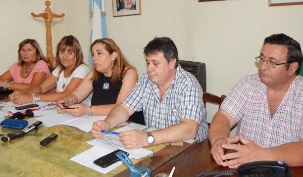 Consejeros escolares, Ariel Martinez, David Farias, Marisa Poratti, Ana Gargano y Griselda Berardi
