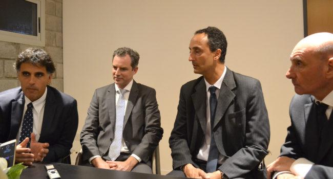 Manuel Mantilla, Christian Kimelman, Raúl Barcesat y Ricardo Alegre en dialogo con El Regional Digital