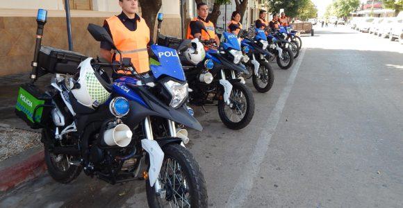 Parque de motocicletas con las que cuenta la Policia de 9 de Julio