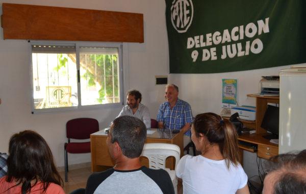 Torres y Lanieri el dia sabado en dialogo con docentes